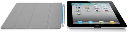 Smart Cover крепится к iPad 2 магнитным шарниром