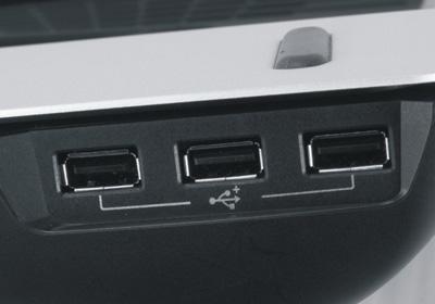 Концентратор USB, расположенный справа