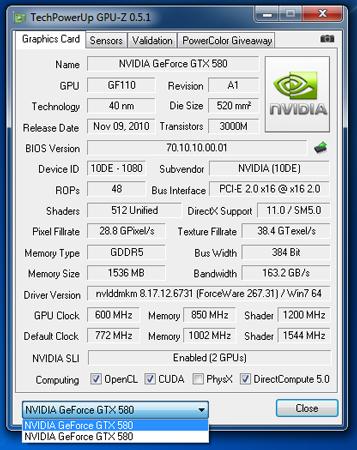 ������� ���������� ����������� ������������� 3D-����� GeForce GTX 590 � �������� �� � AMD Radeon HD 6990