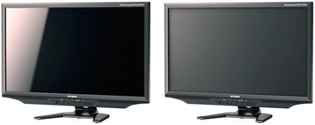 Mitsubishi RDT233WX-S и RDT233WX оснащаются светодиодной подсветкой и ЖК-панелью типа IPS