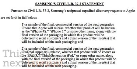 Юристы Samsung требуют показать им iPhone 5 и iPad 3