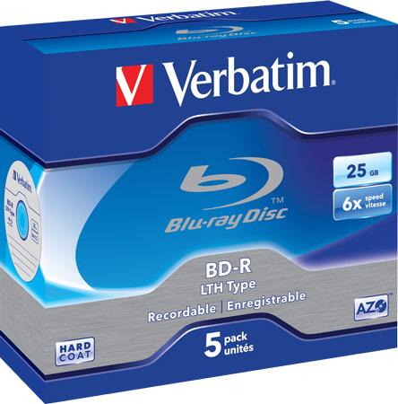 диски Verbatim Blu-ray 6x BD-R LTH