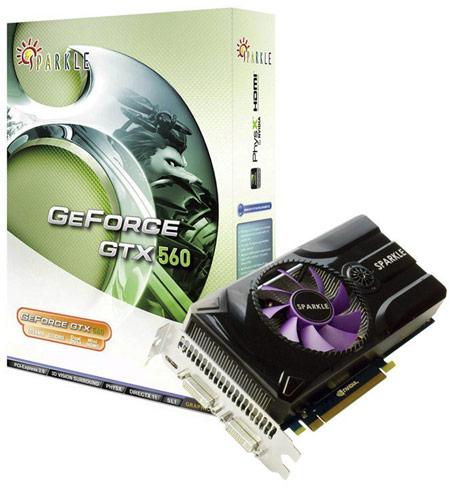 Три 3D-карты серии GeForce GTX 560 пополнили каталог SPARKLE