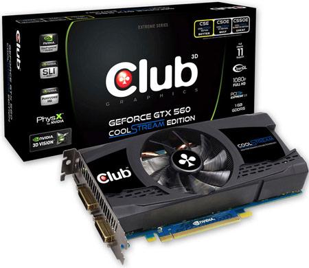 Club 3D NVIDIA GTX560 CoolStream Edition