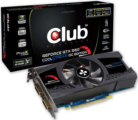 Club 3D NVIDIA GTX560 CoolStream Overclocked Edition