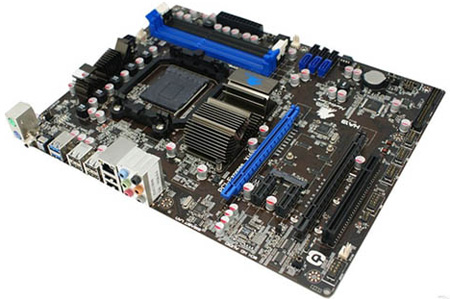 Материнская плата Jetway построена на чипсете AMD 990X и рассчитана на работу с процессорами AMD серии FX (Zambezi)