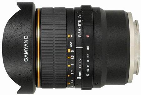 объектив Samyang 8mm f/3.5 Fish-eye CS VG10