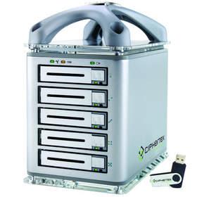 Максимальный объем портативного массива накопителей Ciphertex CX-RANGER-EX равен 15 ТБ