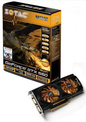 Zotac  GeForce GTX 560 AMP! Edition