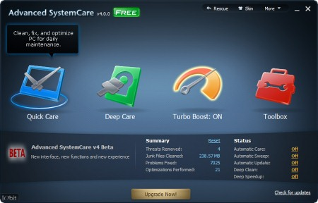 ������� ���� Advanced SystemCare
