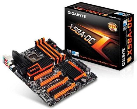 Начались поставки системных плат Gigabyte X58A-OC