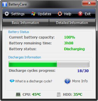 �������������� ���� BatteryCare