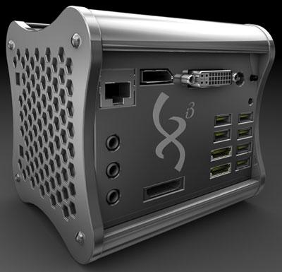 Xi3 ChromiumPC, интерфейсные разъемы