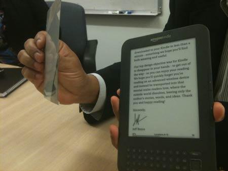 экран E Ink Pearl используется в электронной книге Amazon Kindle