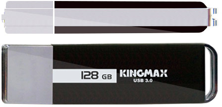 Флэш-накопитель Kingmax ED-01 оснащен интерфейсом USB 3.0