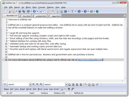 ������� ���� EditPad Lite