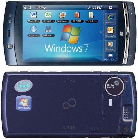 �������� Fujitsu LOOX F-07C �� ���������� Intel Atom ������������ Windows 7 � Symbian