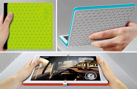 Концепт flexbook: еще один дизайнер предлагает складывать ноутбуки вчетверо