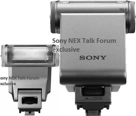вспышка для камер NEX с поворотной головкой