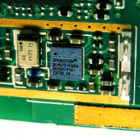 Микросхема приемника GPS производства Broadcom