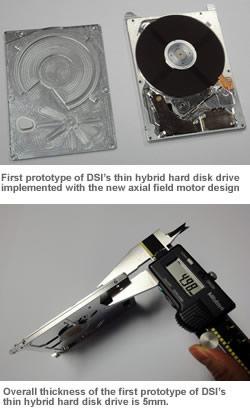 Прототип гибридного накопителя толщиной 5 мм