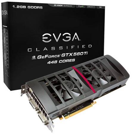 ����� EVGA GeForce GTX 560Ti 448 Cores Classified �������� � ���������� ���������, ����� �������� ���� �������