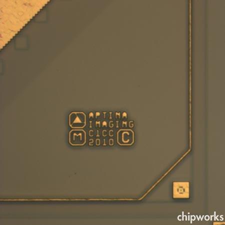 датчик изображения беззеркальной камеры Nikon V1 производства Aptina