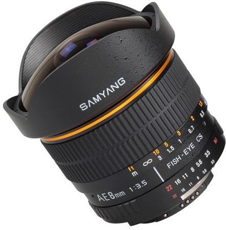 Samyang AE 8mm 1:3.5 Aspherical IF MC Fish-eye CS