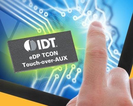 IDT показала первый в отрасли контроллер для подключения сенсорной панели по интерфейсу Embedded DisplayPort 1.3