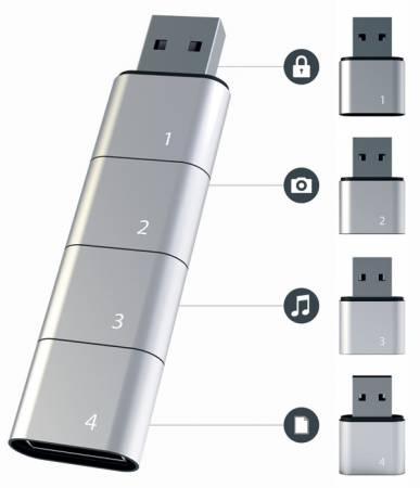 Концепция модульного USB-накопителя Amoeba
