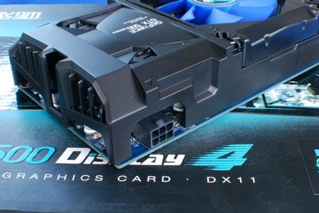 3D-карта Galaxy GeForce GTX 550 Ti Display4 поддерживает до четырех мониторов