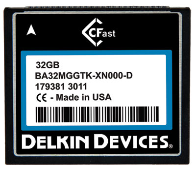 Delkin Devices начинает поставки карт памяти CFast промышленного класса