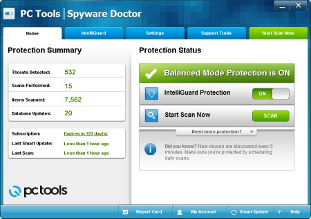 ������� ���� Spyware Doctor
