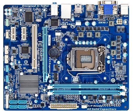 В оснащение платы Gigabyte H61M-USB3-B3 rev. 2.0 вошли порты USB 3.0 и SATA 6 Гбит/с