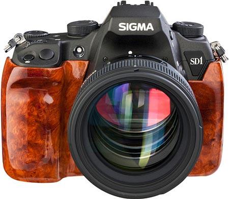 Sigma отделывает камеру SD1 шпоном капа амбойны