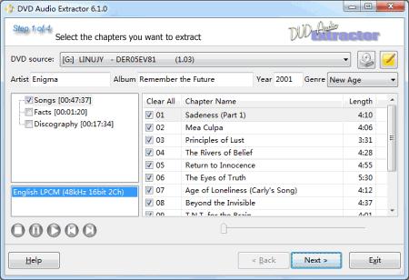 ��������� DVD Audio Extractor