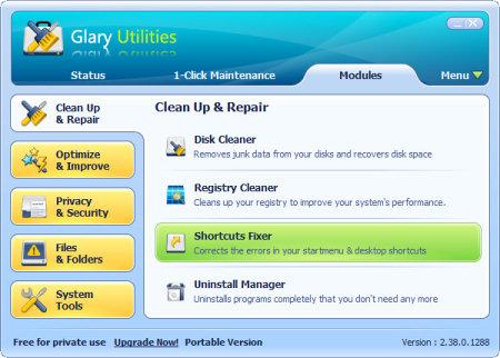 ��������� �������� ���� Glary Utilities