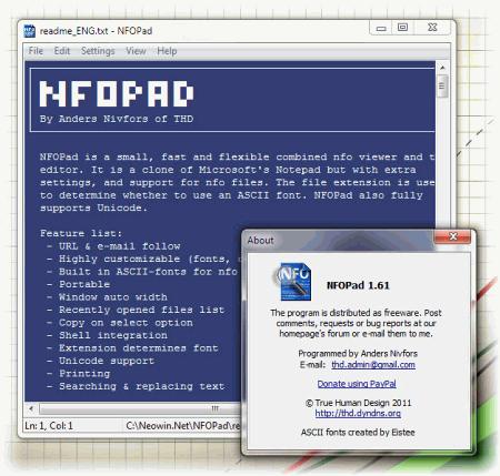 Интерфейс NFOPad