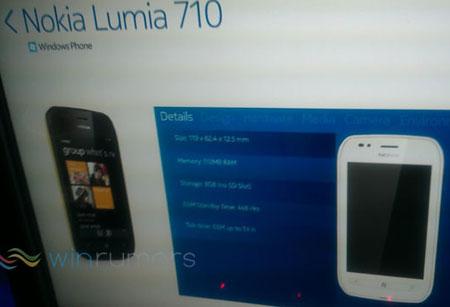 Изображение Nokia Lumia 710 также позирует на официальном плакате