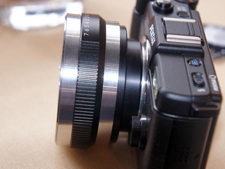 прототип переходника PENTAX K для камеры PENTAX Q
