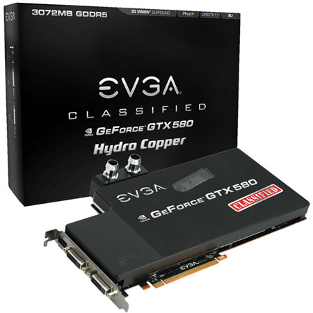 EVGA GeForce GTX 580 Classified Hydro Copper