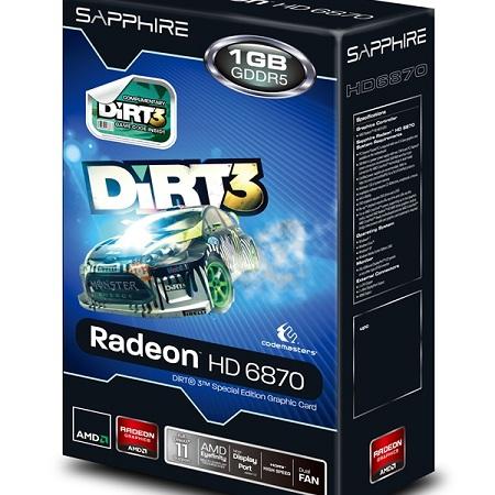 SAPPHIRE HD 6870 1G GDDR5 Dirt3 Edition