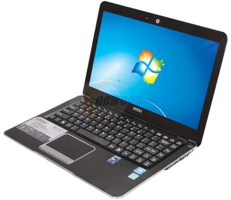 MSI обновляет ультратонкий ноутбук X370 на платформе AMD Brazos