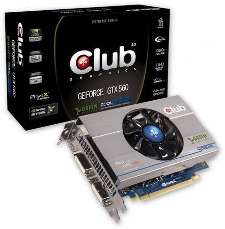Карта Club 3D GeForce GTX 560 Green Edition
