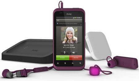HTC Rhyme в сопровождении аксессуаров