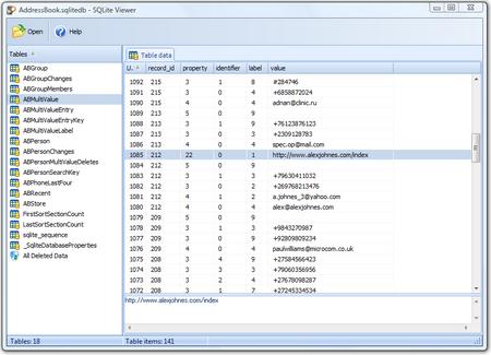 Oxygen Forensic SQLite Viewer