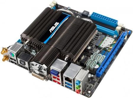 Для системной платы ASUS E45M1-I Deluxe на APU AMD E-450 выбран типоразмер mini-ITX