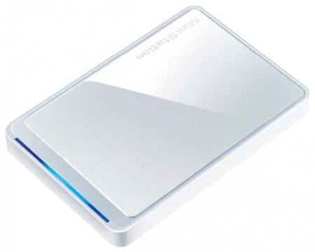 Накопителю Buffalo MiniStation HD-PCTU2 объемом 750 ГБ достался интерфейс USB 2.0