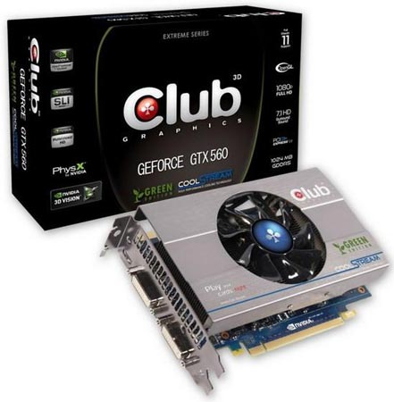 3D-карта Club 3D GeForce GTX 560 Ti Green Edition
