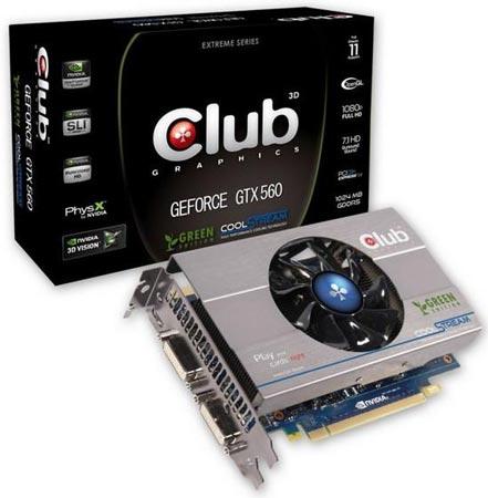 3D-карта Club 3D GeForce GTX 560 Ti Green Edition
